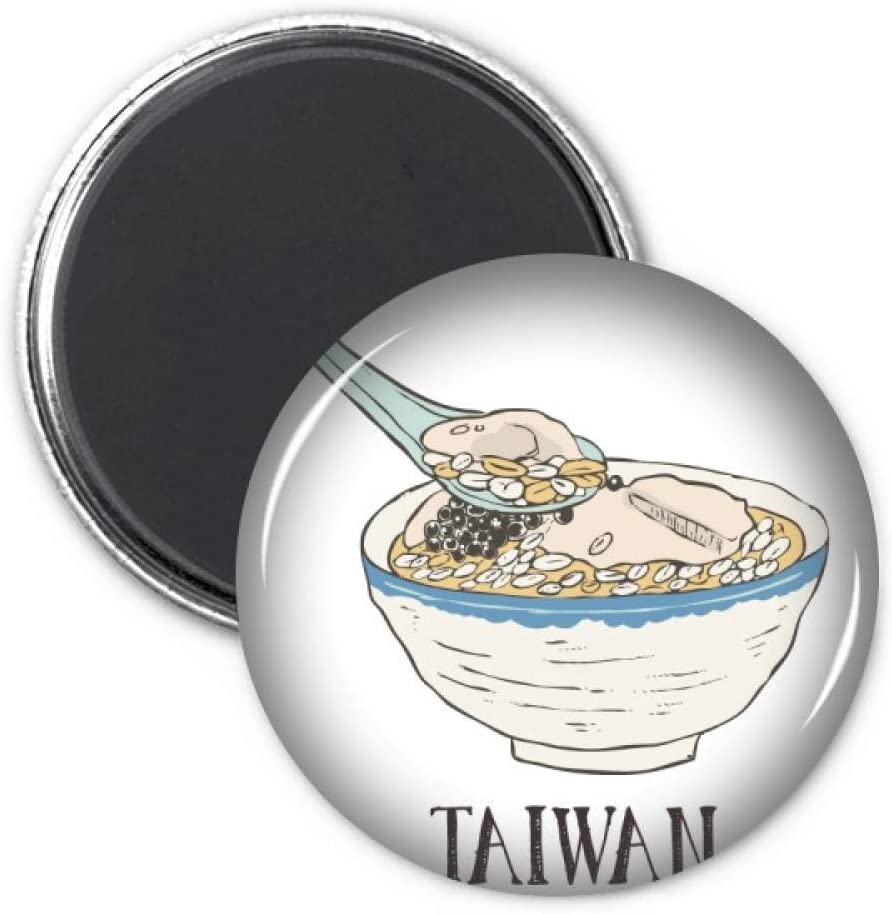Cold Drink Ice Food Taiwan Refrigerator Magnet Sticker Decoration Badge Gift