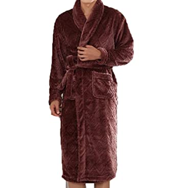 Bata De Manga Larga Pijama De Servicio Batas De Casa Gruesos Calientes del Otoño Y del Invierno De Los Hombres: Amazon.es: Ropa y accesorios