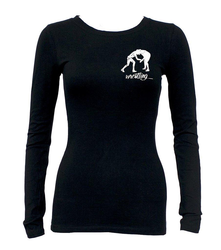 Junior's MMA Wrestling Emblem Tee Black Long Sleeve T-Shirt Small Black
