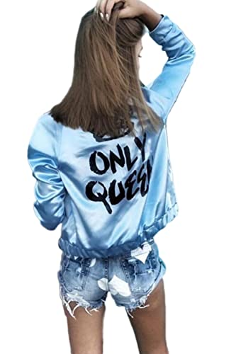 La Mujer Casual Long Sleeve Scoop Neck Solid Punk Moto Chaqueta Outwear