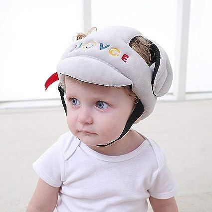 Lorenlli Gorra protectora anti-caídas para bebés Gorro anticolisión para  bebés pequeños Sombrero resistente a a5f13ebb9dc