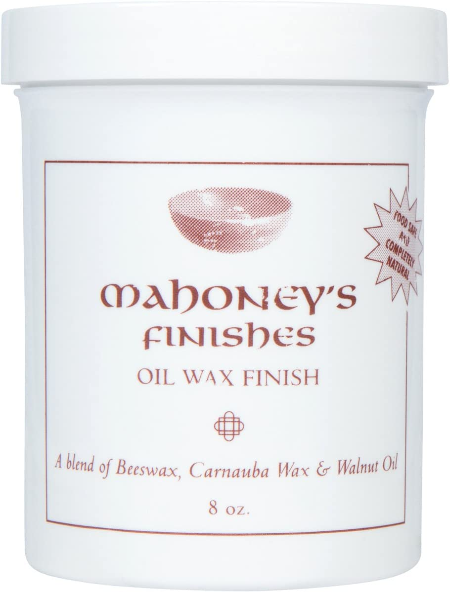 Mahoney's Finishes Walnut Oil Wax: Food Safe Wood Finish For Salad Bowls, Cutting Boards or Furniture Fast Drying Utility Wood Protectant