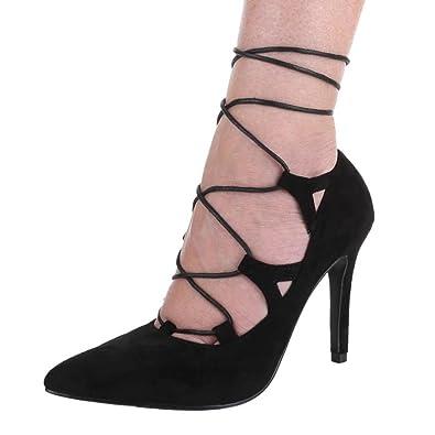 Cingant Woman Damen Sandalette/Absatz/Sommerschuhe/Damenschuhe/Elegante Damenschuhe/Blockabsatz/Römersandale/Schwarz, EU 38