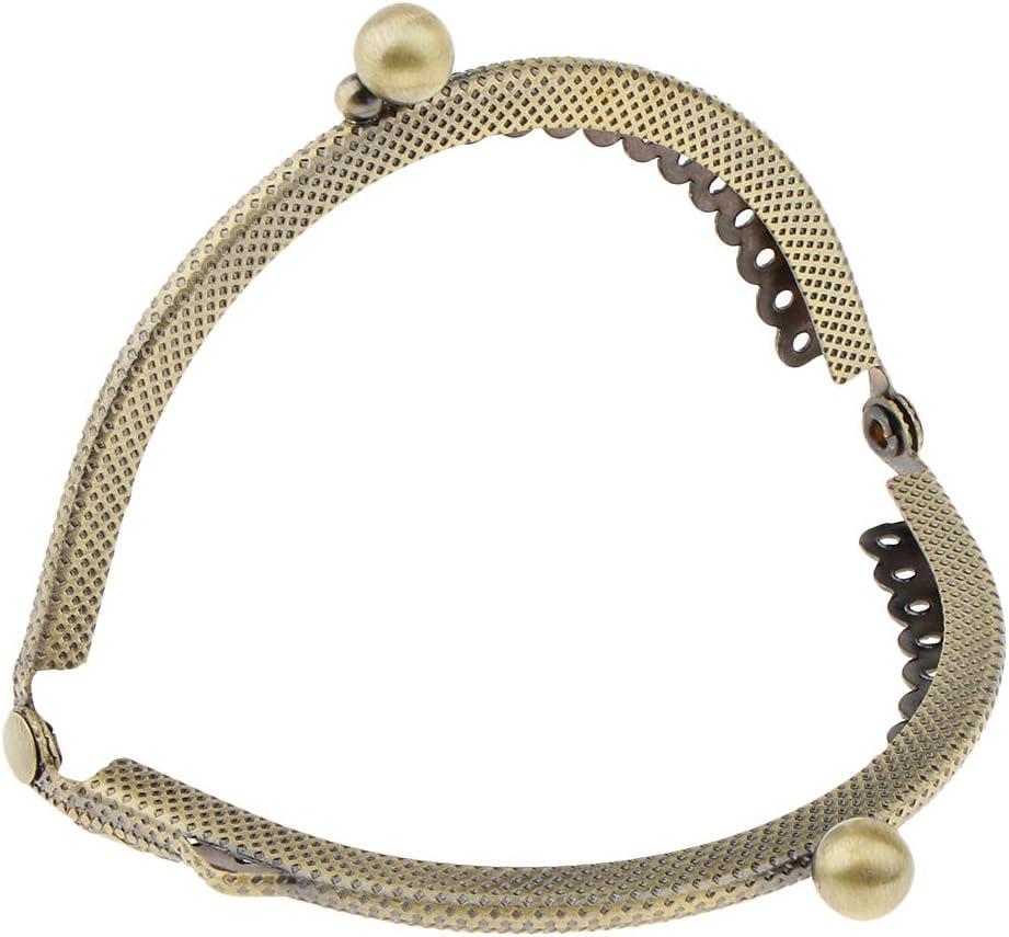 4er Set Metall Rahmen f/ür Geldb/örsen Taschenverschluss Taschenb/ügel Metallb/ügel mit Klippverschluss