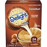 International Delight, Hazelnut, Single-Serve Coffee Creamers, 24 Count (Pack of 6), Shelf Stable Non-Dairy Flavored Coffee Creamer, Great for Home Use, Offices, Parties or Group Events