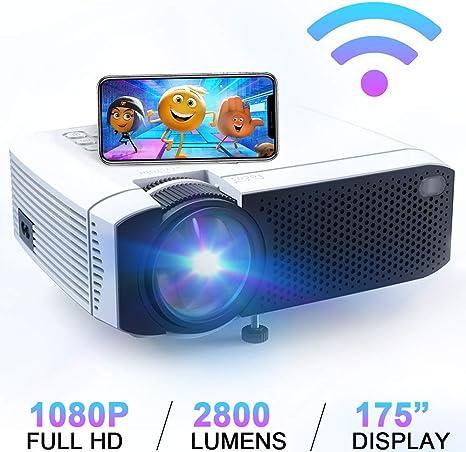 Amazon.com: Proyector de vídeo, mini proyector de cine en ...