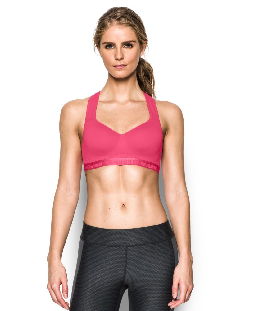 Under Armour Women's Armour High Bra, Pink Sky/Pink Sky, 32B by Under Armour (Image #1)