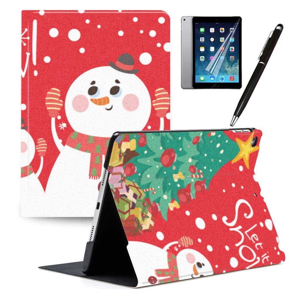【残りわずか】 GSPSTORE iPad iPad 9.7 2018/2017 ケース 自動スリープ/ウェイク機能付き 2 クリスマスケース iPad 雪の結晶 クリスマスツリー サンタクロース キリンパターン かわいいPUレザー フリップ iPadケースカバー iPad Air 2/ iPad Airにも対応 カラー10 B07L3S5YVV, 新品入荷:d9b2823e --- a0267596.xsph.ru
