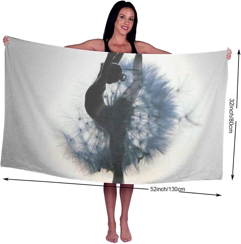 80X130Cm tr/ès Absorbant chillChur-DD Bath Towel Serviette de Bain Danseuse Fille imprim/é Microfibre Plage Piscine Serviette de Bain pour Adultes Super Doux