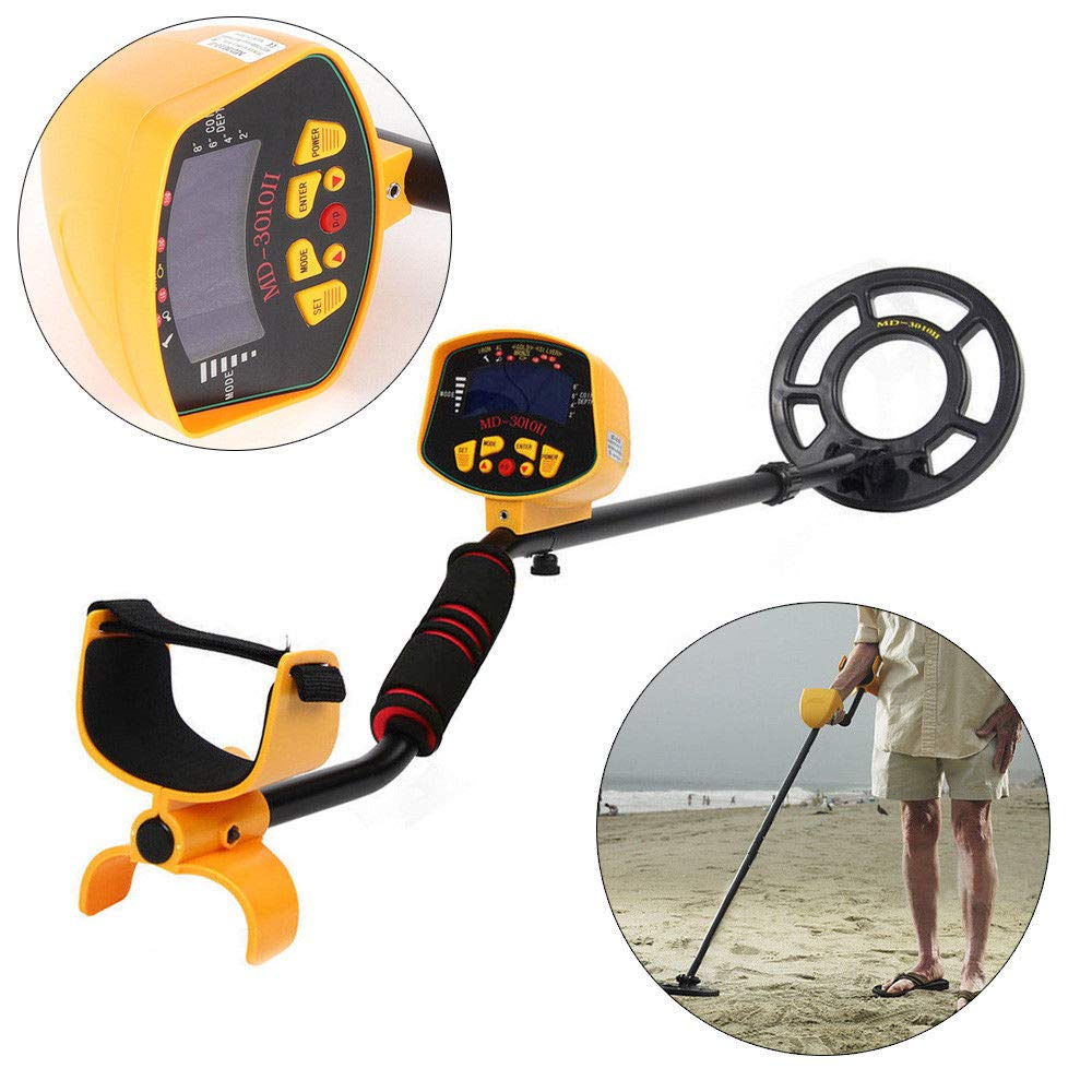 Amazon.com : BSTOOL MD-3010II Metal Detector High Accuracy Waterproof Outdoor Gold Digger with Sensitive Search Coil LCD Display Light Hunter Finder for ...