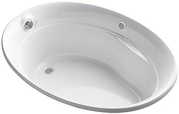 KOHLER K-1337-G-0 Serif 5-Foot BubbleMassage Bath, White - Drop In ...