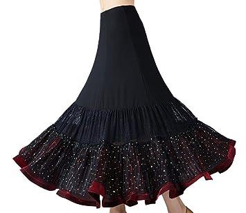 SMACO Rendimiento Traje de la Danza de la Falda de Baile Flamenco ...