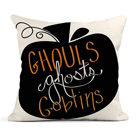 Kinhevao Cojín Naranja 31St Ghouls Ghosts Goblins Calabaza ...