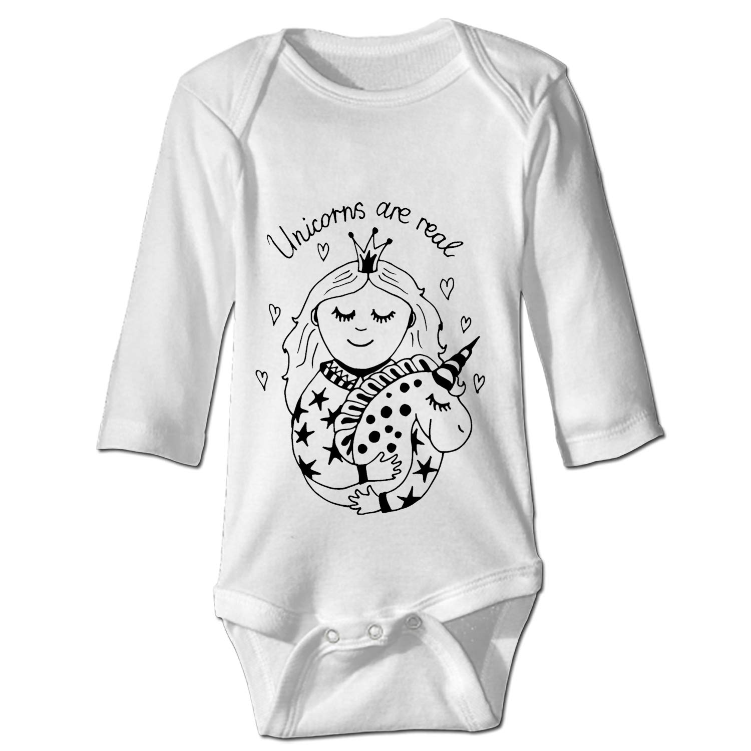 The Horse Unisex Baby Long-Sleeve Onesies Cotton Bodysuits Infant Romper Clothes