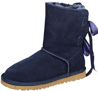YIWANGO Bottes Bottes Femme Daim Hommes Et Femmes Bottes d hiver Bottes De  Neige  Amazon.fr  Chaussures et Sacs edecd4733e5