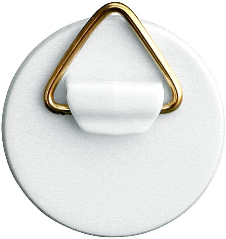 Home Xpert Selbstklebe-Aufh/änger mit Messing/öse Kunststoff wei/ß /Ø 42 mm