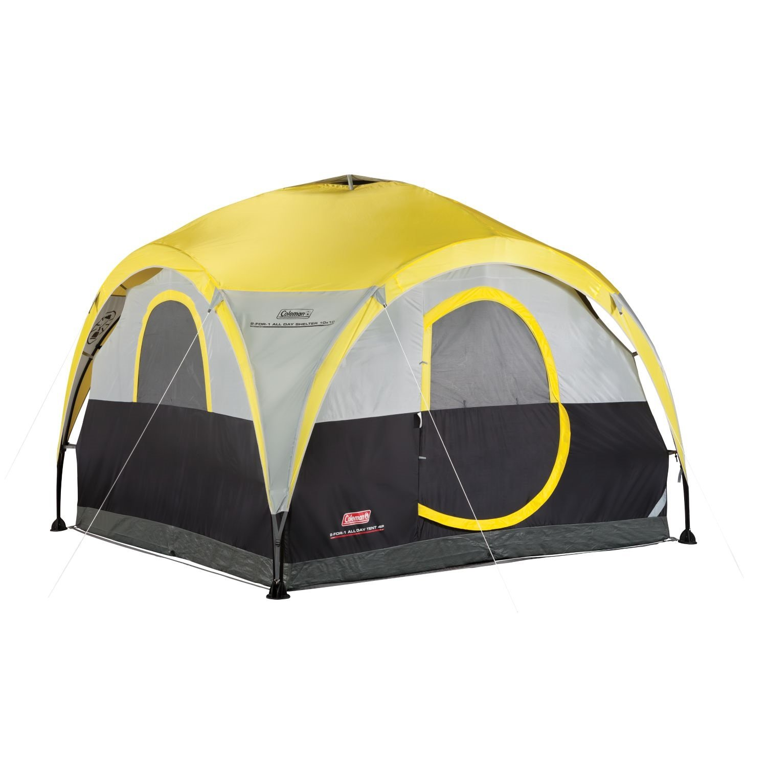 Amazon Coleman 2 For 1 All Day 4 Person Shelter Tent
