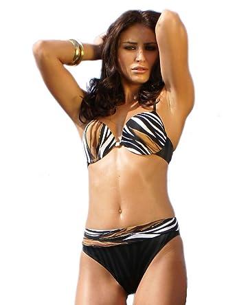 f8accbc28fabb Push Up Padded Underwired Bikini Set Italian Fabric New Swimwear   Amazon.co.uk  Clothing