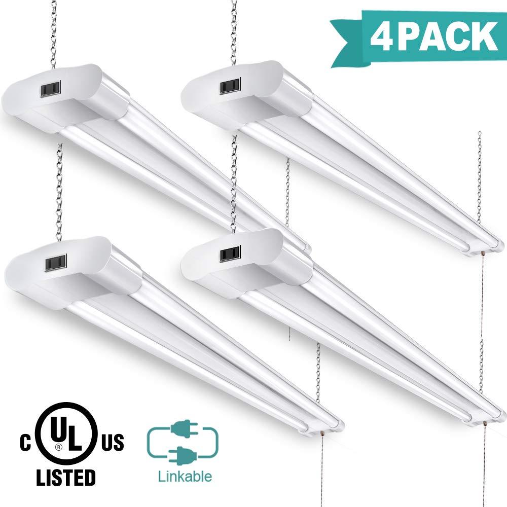 Linkable LED Shop Lights for Garage 4FT 40W 4200 Lumens 5000k Led Garage Light (4pack)