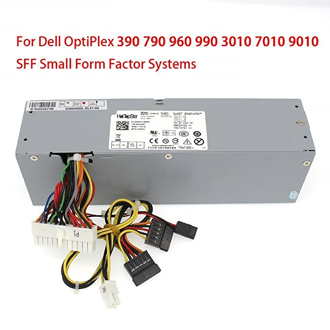 HotTopStar 240W Power Supply Replacement for Dell Optiplex 390 790 960 990  Small Form Factor SFF Systems H240AS-00 AC240AS-00 L240AS-00 AC240ES-00