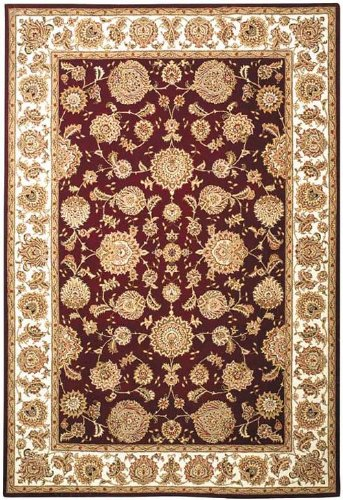 Safavieh Persian Court Collection PC123F Handmade Red and Ivory Wool Area Rug 5 x 8