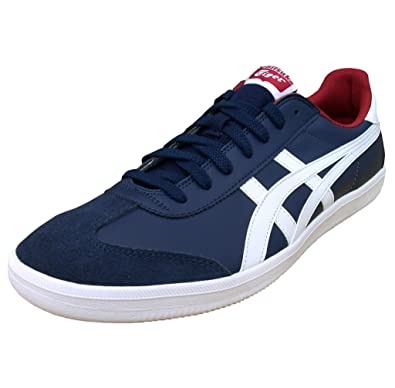 brand new a70a0 b832a Onitsuka Tiger Asics Tokuten Leather Men's Retro Trainers Shoes Navy White  Stripes