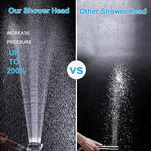 Led Handheld Shower Head, Filter Filtration High Pressure, Water Saving, 7 Colors Automatically, No Batteries Needed, Spray Handheld Showerheads, 1.6 GPM for Dry Skin & Hair (7-Color Small)