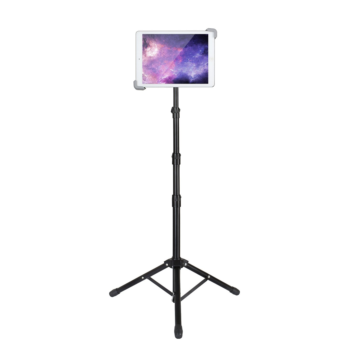 Elitehood Ipad Tripod Stand, Up to 65.3 Inch Height Adjustable Foldable Floor Tablet Stand With 360° Rotating Holder for iPad 1,2,3,4, iPad Mini, iPad Air, Samsung Galaxy and More 7.9'' to 12'' Tablets
