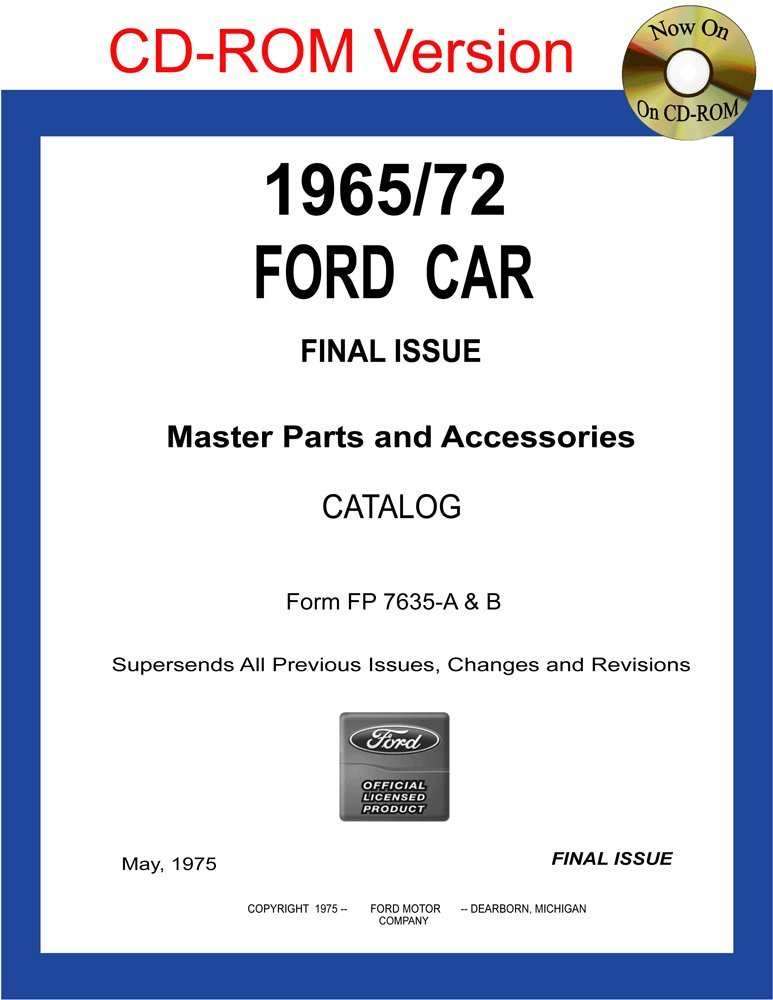 Read Online 1965/72 Ford Car Master Parts and Accessories Catalog pdf epub