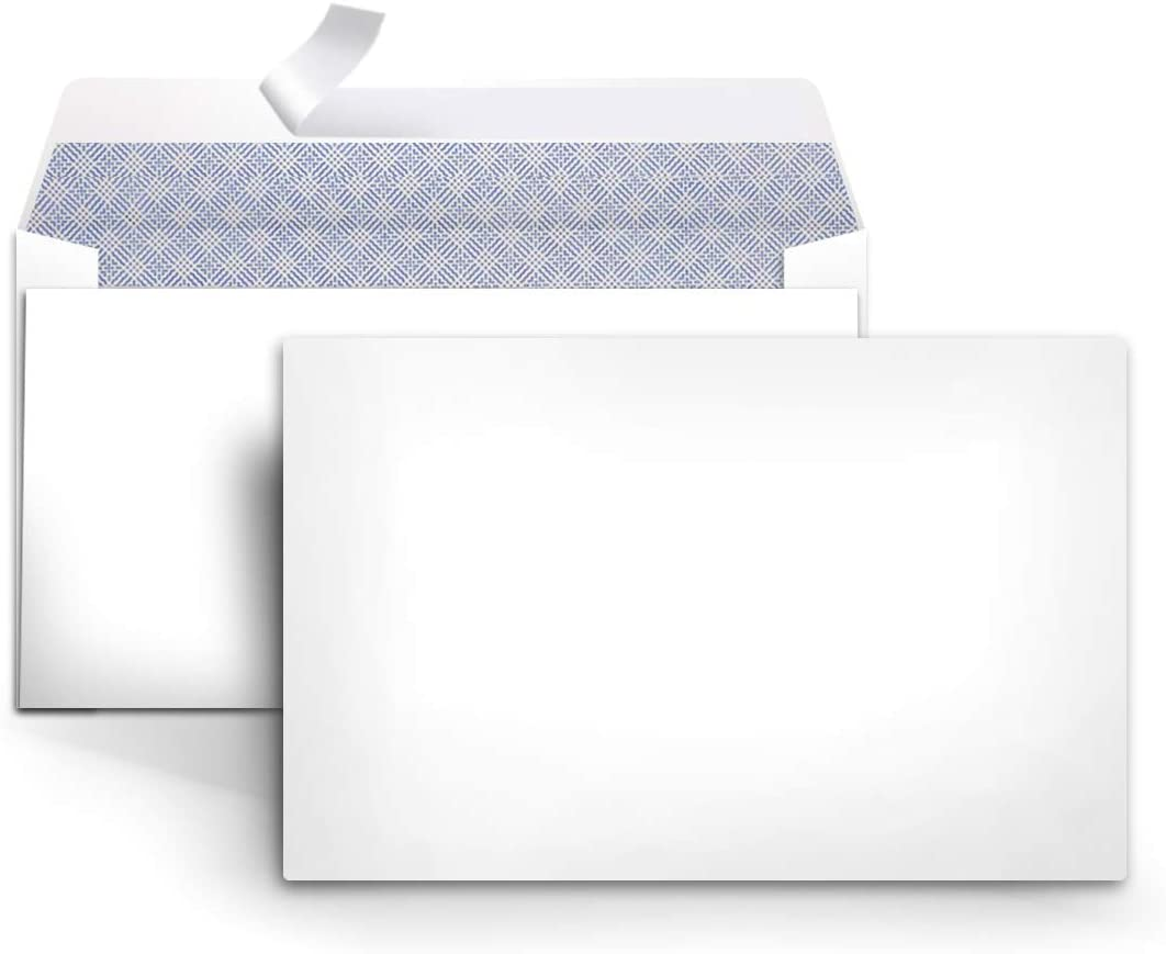 """80 Peel /& Self-Seal White Letter Mailing Security Envelopes 3-5//8"""" x 6-1//2"""""""