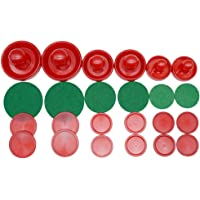 LZYMSZ Home Standard Air Hockey,6 Sets Light Weight Air Hockey Replacement Pucks and Slider Pusher for Game Tables Equipment(Small/Medium/Large Size)