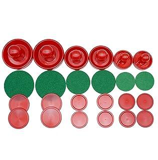 LZYMSZ Air Hockey Set Pusher & Pucks, 6 Set Leggero Air Hockey Ricambio Pucks And Slider Pusher per Tavoli da Gioco Attrezzature (Piccole / Medie / Grandi Dimensioni)