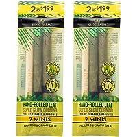 KING PALM Natural Pre Wrap Mini Tamaño Bolsa (2 unidades, 4 envolturas)
