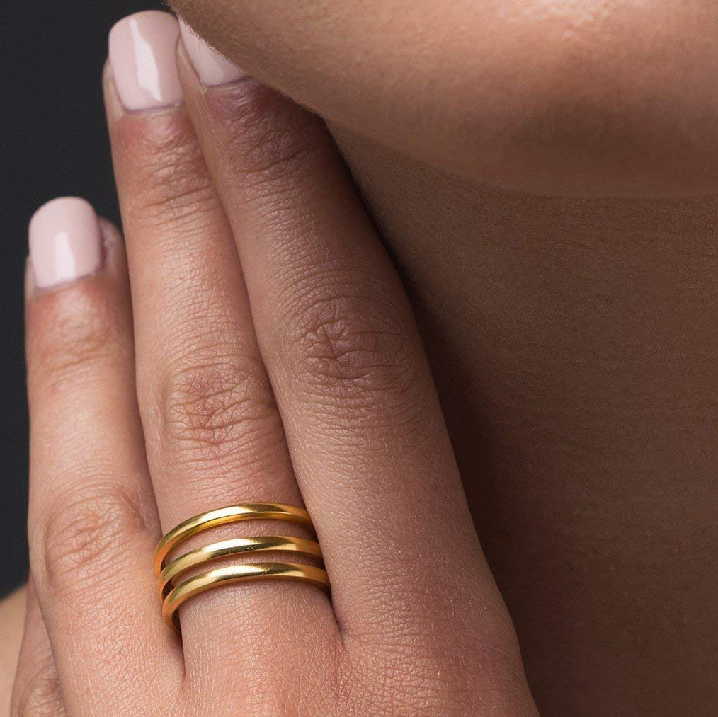 Gold ring for women, stacking ring, band ring, stackable ring, rose gold ring gift for women, minimalist ring, unique ring rose gold jewlery