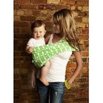 Amazon.com : Seven Slings Baby Infant Carrier Sling Size 4 (Green ...
