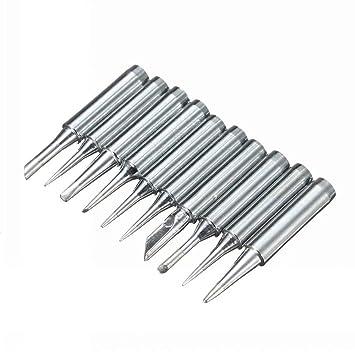 Lifreer 10Pcs Herramienta de punta de soldador de soldadura para Atten Quick Lukey Aoyue 968: Amazon.es: Bricolaje y herramientas