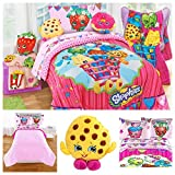 Shopkins Kids Bedding Comforter Set with Sheets and Pillow Buddy - Twin