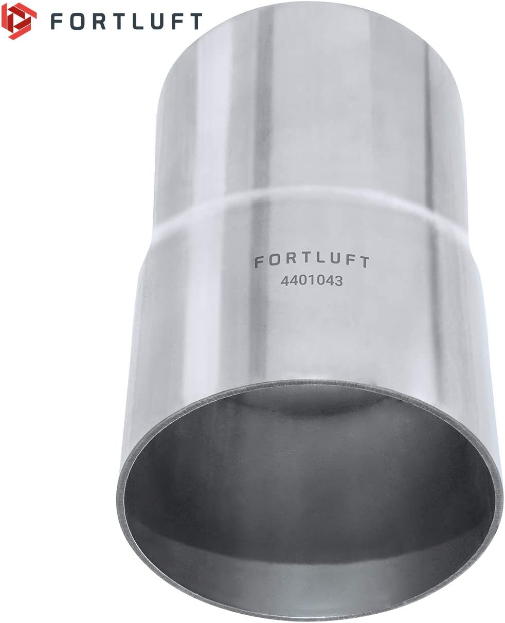 FORTLUFT Universal Extension Exhaust Pipe Stainless Steel 1.50//38mm