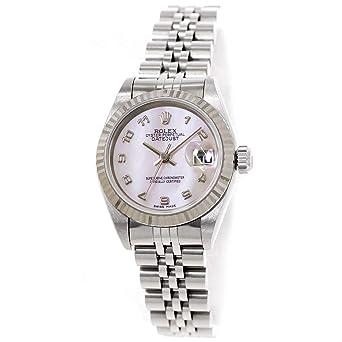 fb86b214f5 ロレックス ROLEX デイトジャスト 69174NA レディース 腕時計 ホワイトシェル K18WG オートマ 自動巻き ウォッチ 【中古】