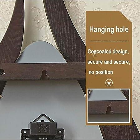 reloj de pared NLIAN- Decorativo, Tablero de Fibra Mediana de MDF con Movimiento de Barrido de Péndulo de Corteza Fraxinus Mandshurica Operado con Batería para Sala de Estar Dormitorio: Amazon.es: Hogar
