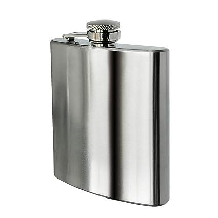 Premier Housewares Stainless Steel Hip Flask, 8 oz