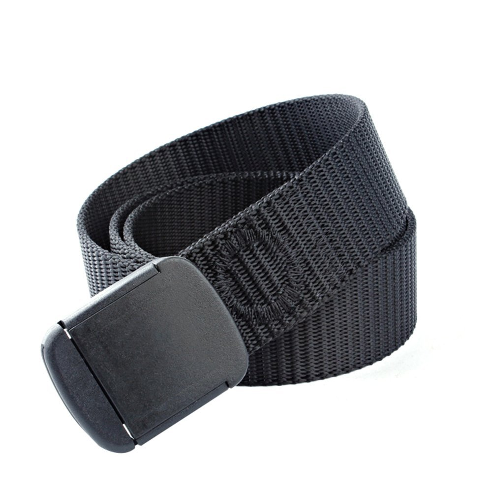 Tactical Wide Belt - Fenical Men's Outdoor Nylon Buckle Belt Waistband(Black)