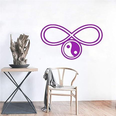 Símbolos de yoga Etiqueta de vinilo de pared Yoga Studio ...