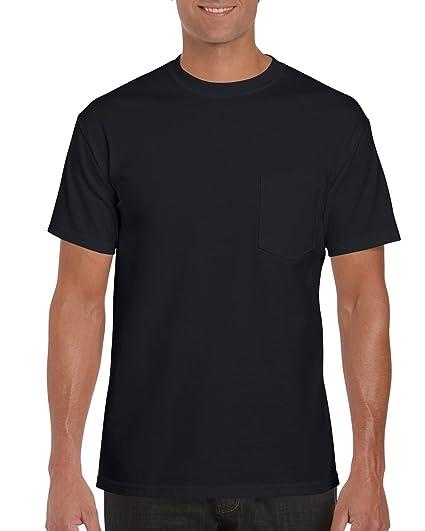 fe5a0e4745e327 Gildan Men's Workwear Pocket T-Shirt, Black, Small