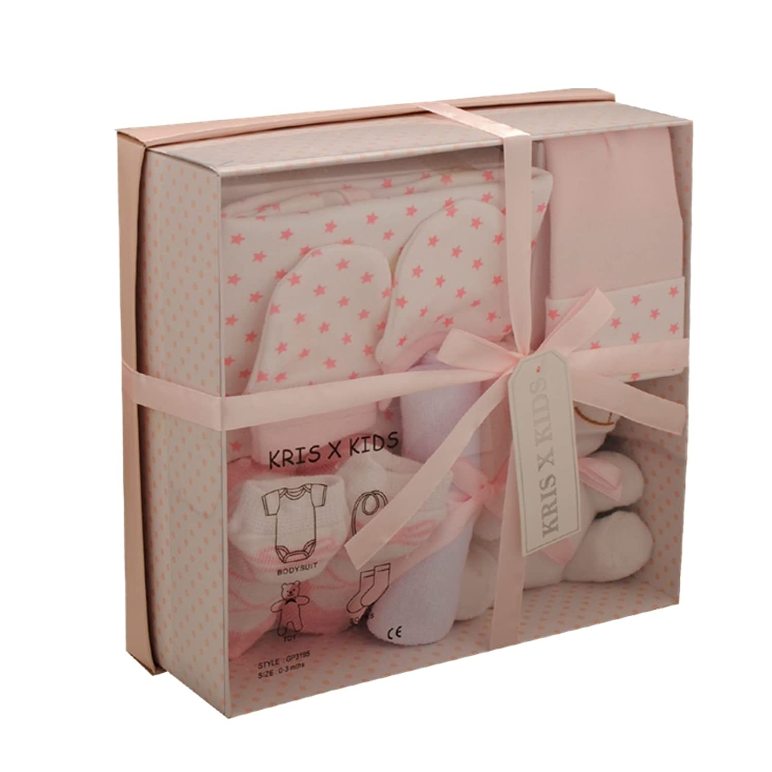 Baby Gift Set - Newborn or Baby Shower Gift Box/Hamper for Boy or Girl Blue 0-3 Months Kris X Kids