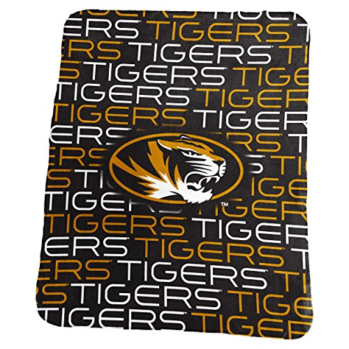 Logo Brands NCAA Missouri Tigers Classic Fleece, One Size, Charcoal