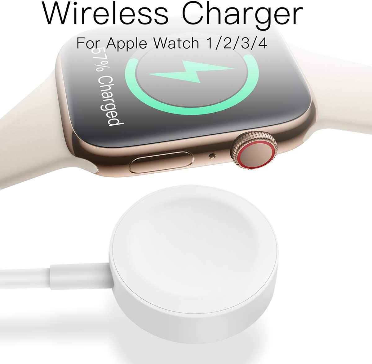AICase iWatch Chargeur, Câble de Charge magnétique pour Apple WatchiWatch 38mm 40mm 42mm 44mmApple Watch Series 1,2,3,4. (1M)