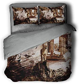 Mademai King Size Duvet Cover Set Americana,Sunbeam Antelope Canyon.jpg Decorative 3 Piece Bedding Set with 2 Pillow Shams
