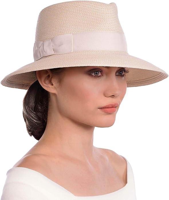 Eric Javits Luxury Women s Designer Headwear Hat - Phoenix - Cream e6c15236da5