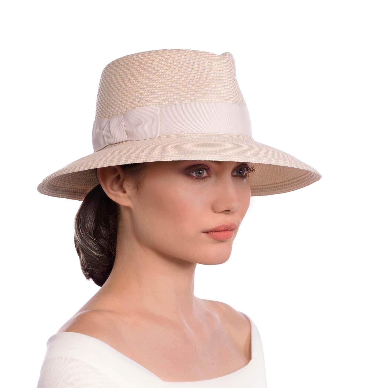 Cream Eric Javits Luxury Women's Designer Headwear Hat  Phoenix
